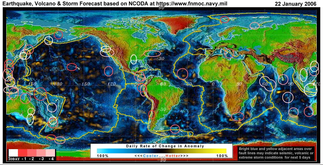 Expected Earthquake, Volcanic or Storm Activity for the Next 1 to 5