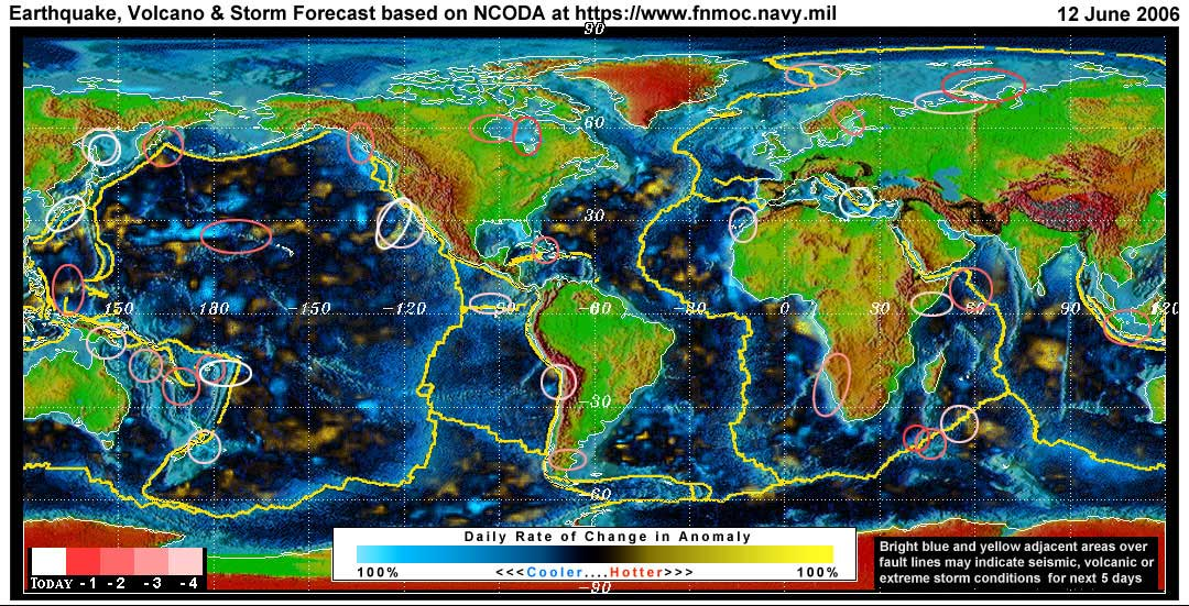 Expected Global Earthquake, Volcanic or Storm Activity for the Next 1